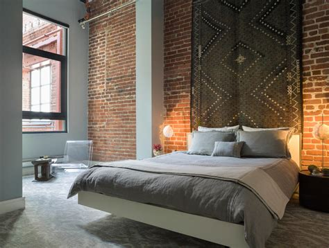 Loft Bedroom | 23 brick wall designs decor ideas for bedroom design