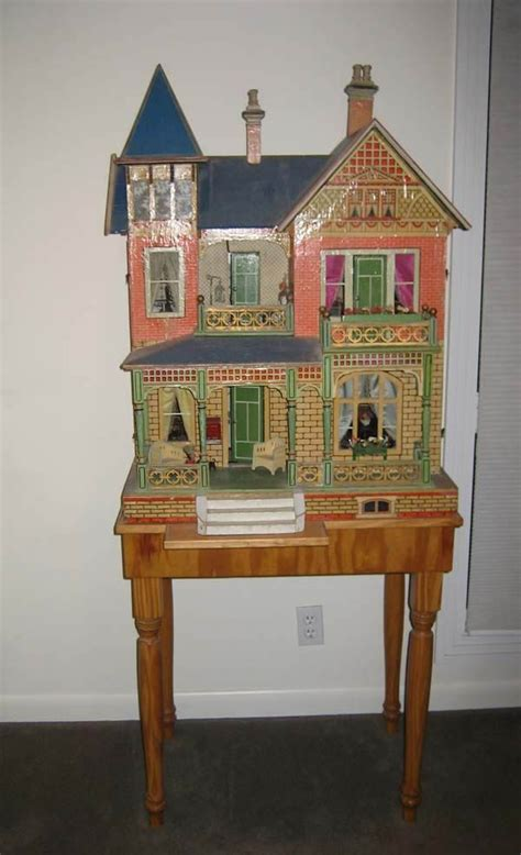 german doll house large antique german gottschalk blue roof doll house from