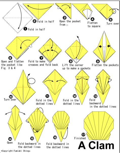 How To Make A Paper Shell - 简单儿童折纸海贝手工折纸教程 纸艺网