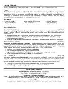 best it manager resumes 2016 writing resume sle