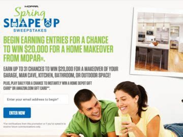 The View Spring Cash Sweepstakes - the mopar spring shape up sweepstakes