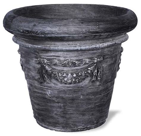 Planter Without Drainage Holes by Rolled Garland Planter Charcoal 24x24x19 Without