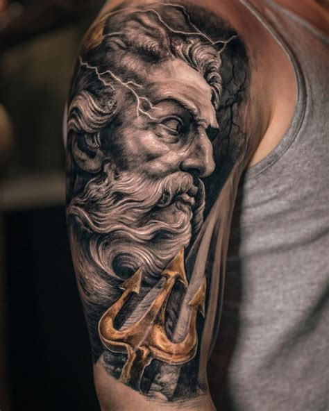 poseidon tattoo design neptune trident best design ideas