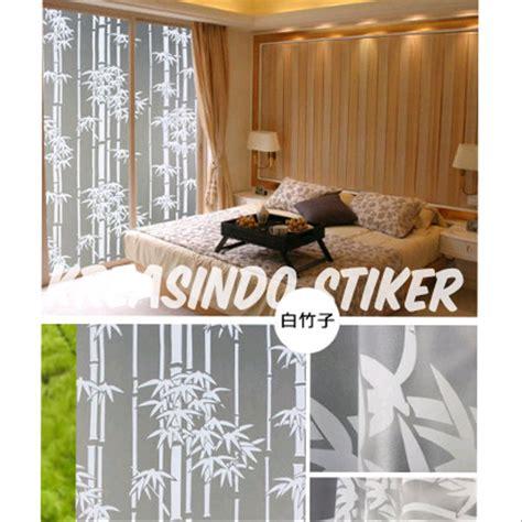 jual stiker kaca motif bambu  lapak kreasindo stiker