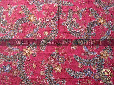 Hem Batik Pekalongan Motif Sogan Kemeja Atasan jual kain batik bahan baju motif floral remukan merah
