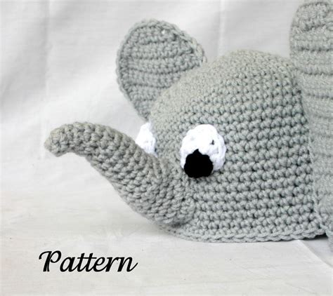 crochet pattern elephant hat baby toddler elephant hat pdf crochet pattern 6 36 months