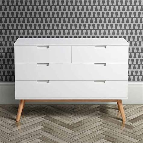 White And Oak Chest Of Drawers by White Oak Mid Century Chest Of Drawers By I Retro