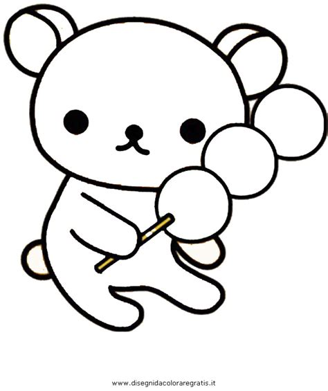 rilakkuma bear coloring pages coloring pages