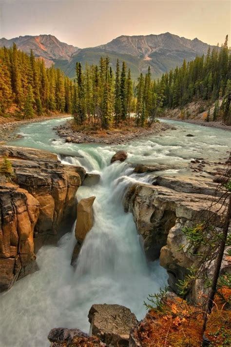 sunwapta falls fall national parks and canada on pinterest