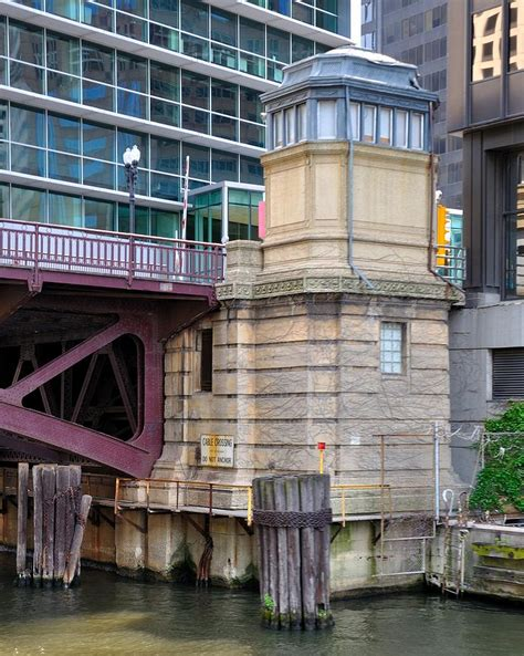 bridge house chicago chicago river bridge house 3 photograph by robert plack