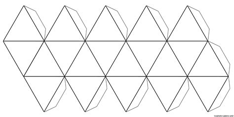 icosahedron template file foldable icosahedron blank jpg