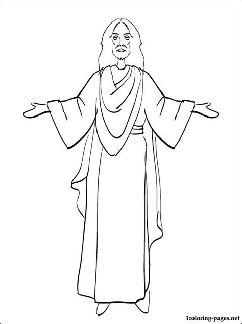Jesus Coloring Page For Easter Coloring Pages Coloring Page Of Jesus