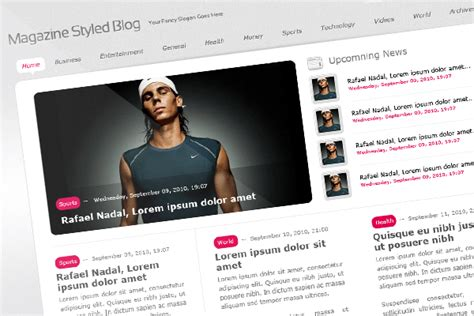 layout magazine tutorial magazine styled blog layout