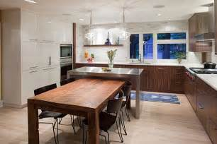 kitchen table island combination island and dining table combo kitchen 2