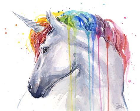 unicorn printable art unicorn rainbow watercolor art print unicorn print baby girl