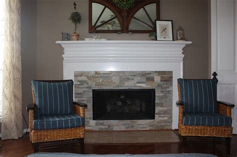 stone around fireplace header new stacked stone fireplace surround