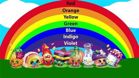 colors of the rainbow song the rainbow song with shopkins