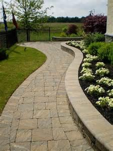 the extraordinary design paving stone walkway photograph