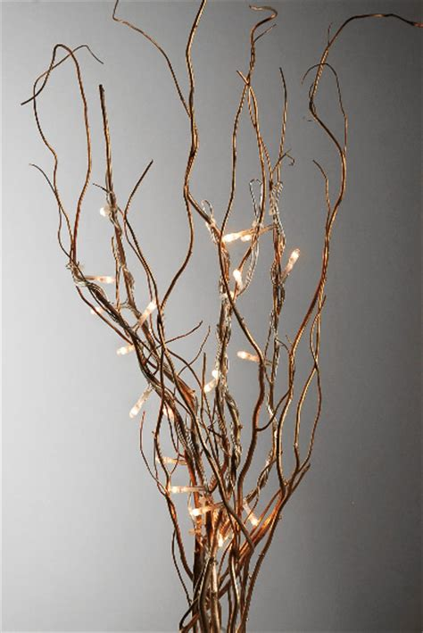 lighted willow branches lighted gold curly willow branches 20 quot 10 branches