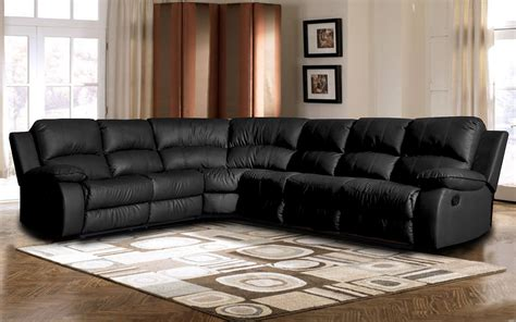 black reclining sectional sofa black reclining sectional black bonded leather double