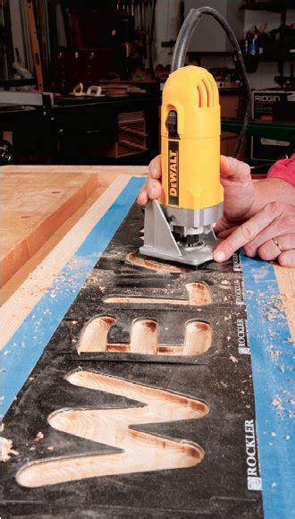 Top Trim Routing Techniques Signmaking Rockler How To Woodworking Template Maker