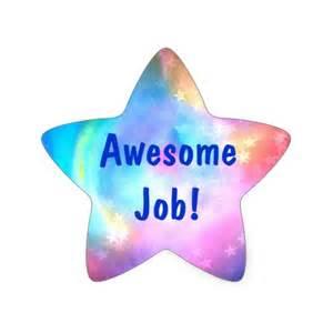 Awesome job rainbow star multi color star sticker zazzle