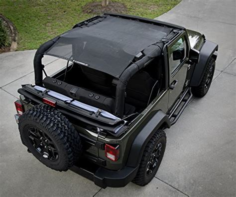 Jeep Mesh Top Sunshade Jeep Wrangler Mesh Top Cover With 10