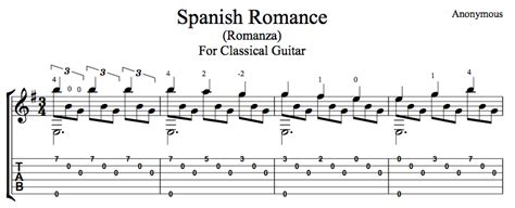 Spanish Romance   Romanza (Free PDF or TAB)   this is classical guitar