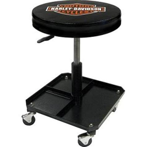 Harley Davidson Work Stool by Garage Stools On Wheels Garage Stool With Tray Rolling
