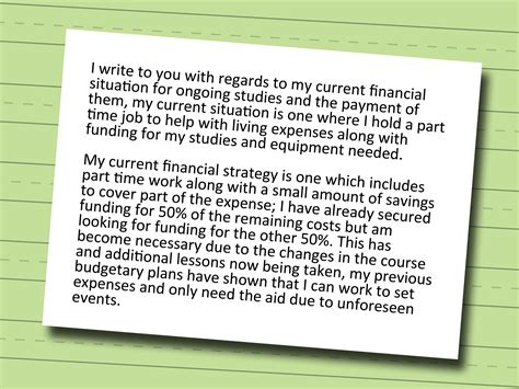 Financial Need Letter For Scholarship 3 Ways To Write A Letter For Financial Aid Wikihow