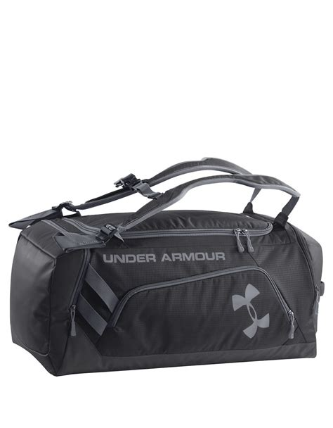 duffle bag or backpack armour contain backpack duffel bag in black