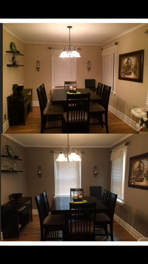 40 makeover my new dining room color behr paint rustic taupe neutral color with furniture