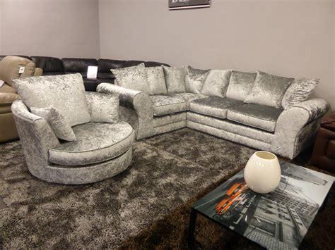 boleyn sofa boleyn quality grey silver crushed corner sofa matching