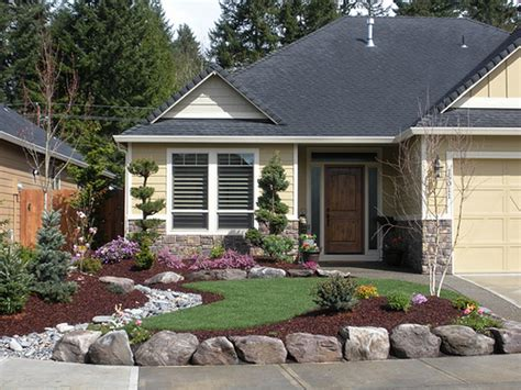 home landscaping ideas to inspire your own curbside appeal - Rock Front Yard