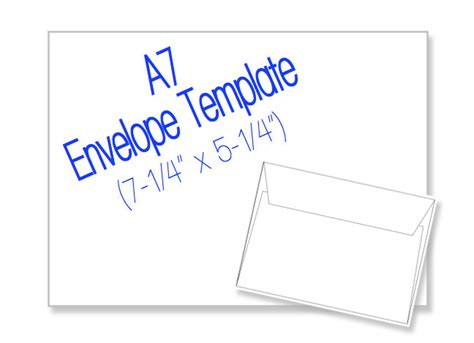 A7 Envelope 7 1 4 X 5 1 4 Blank By Heritageexpressions On Etsy A7 Template Envelope
