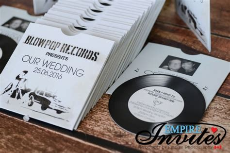 vintage record wedding invitations white vintage vinyl record themed wedding invitations