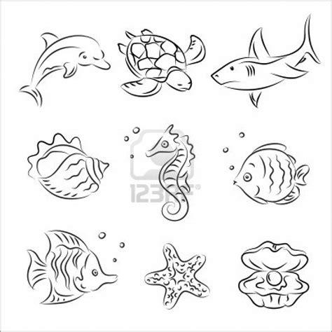 realistic seahorse free sea animals coloring page download print