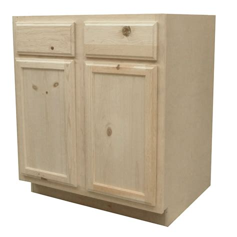 Sutherlands Kitchen Cabinets Kapal Wood Products B30 Pfp 30 In Unfinished Knotty Pine Base Cabinet At Sutherlands
