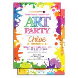 7 best images of art party invitations printable paint