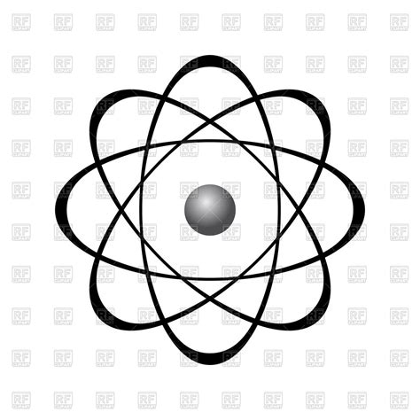 Atom Model Vector Clipart abstract model of atom royalty free vector clip image