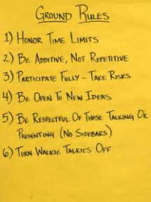 Examples of ground rules tips for facilitators best practices