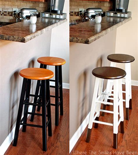 how to paint a bar stool boring bar stools upcycled w bronze quot dipped quot legs