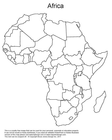 Africa Fill In The Blank Map Quiz by Andrewsgeography Blank Maps Amp Assignments