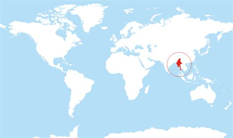 myanmar on world map where is myanmar located on the world map