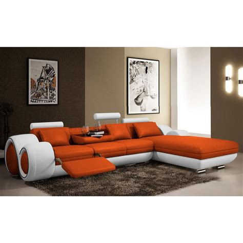 canape d angle 5 places cuir canap 233 d angle relax en cuir 5 places roll