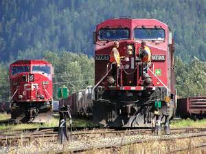 Canadian pacific railway cpr trains and wagons these locomotives pull