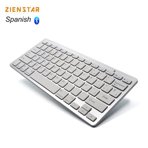 Keyboard Komputer Bluetooth Zienstar Language Ultra Slim Wireless Keyboard
