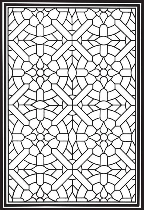 stained glass coloring book geometric genius stained glass coloring book stained