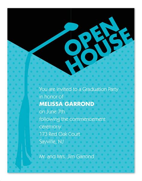 open house invitation wording 41 graduation invitation designs free premium templates