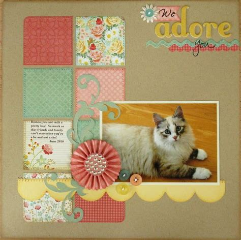 scrapbook layout cat 290 best my mind s eye layout images on pinterest